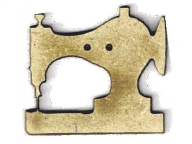 Botón Madera Máquina de Coser