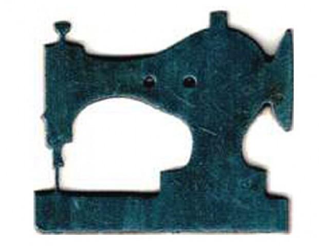 Botón Madera Pintada Máquina de Coser