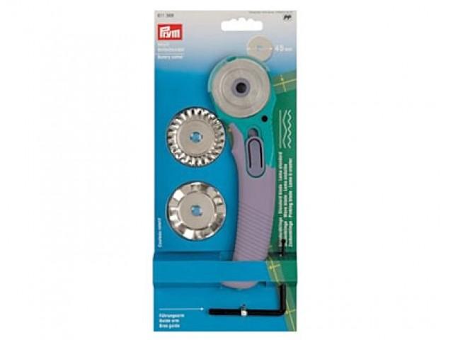 Cúter Rotativo Ergonómico 3 Cuchillas para Patchwork