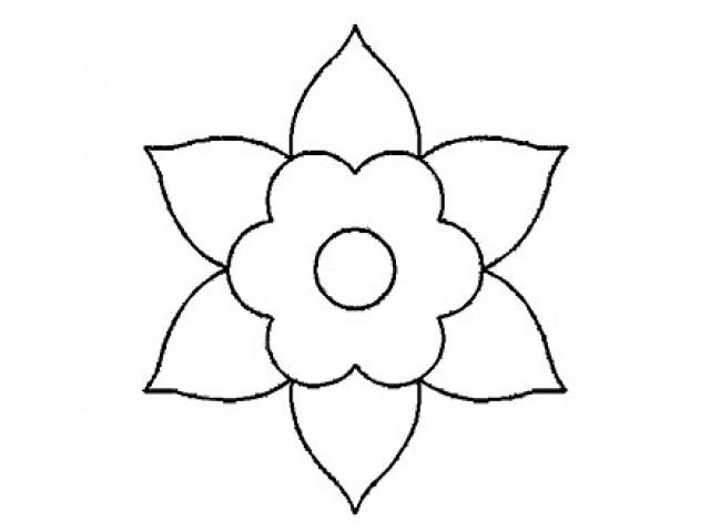 Plantilla Acetato Flor Puntas
