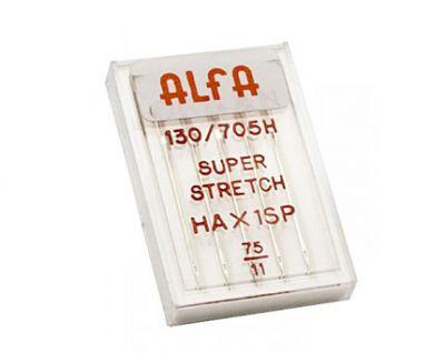 Estuche de 5 Agujas Alfa Stretch Número 75