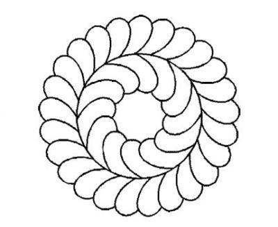 Plantilla Circulo Plumas