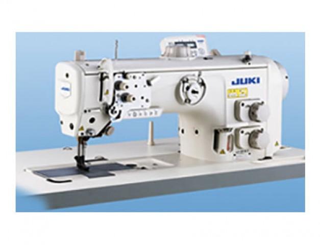 Máquina de coser industrial de triple arrastre con dos