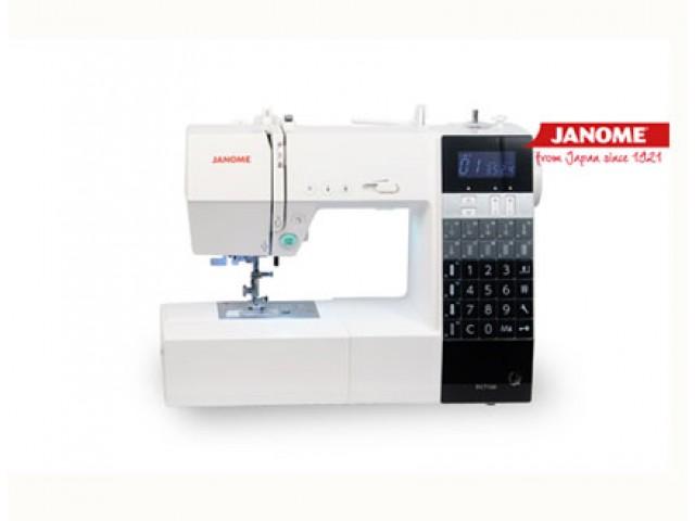 Máquina de coser Janome DC7100 mesa alargadora y rodillera