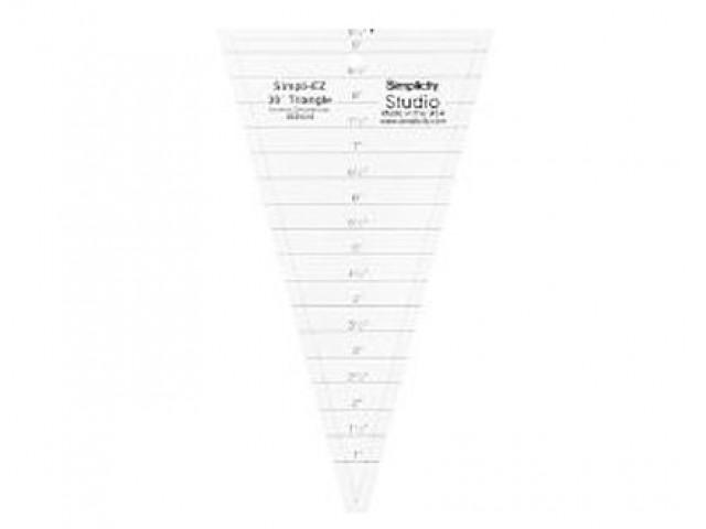 Regla Acrílica Triángulo 30º