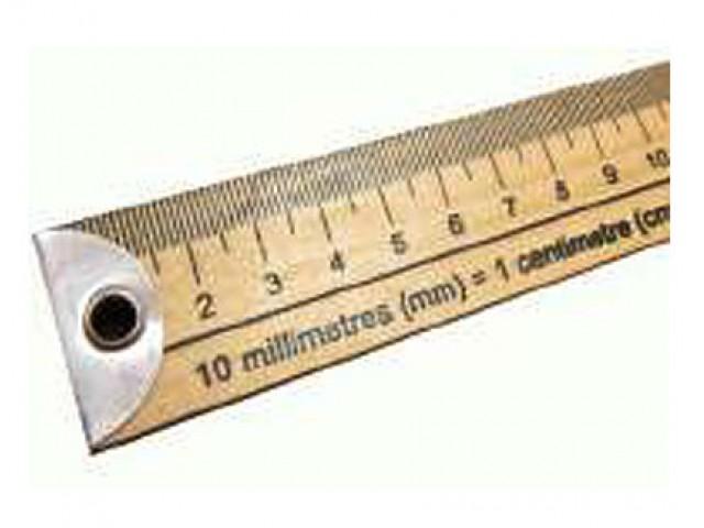 "Regla Madera 100 cm / 40"""
