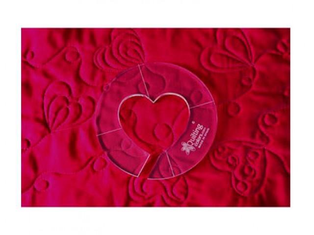 Regla para acolchar círculo con corazón