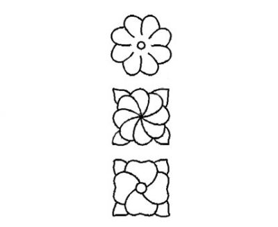 Plantilla Acetato 3 Flores