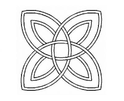 Plantilla Celtic Doble Ocho Puntas