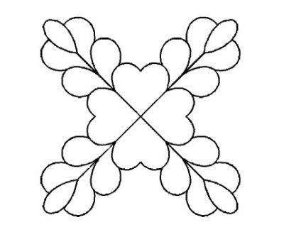Plantilla Flor Bandera Cruzada