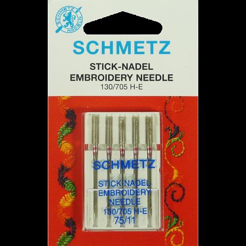 Agujas Schmetz Embroidery 130/705 H-E 75/11
