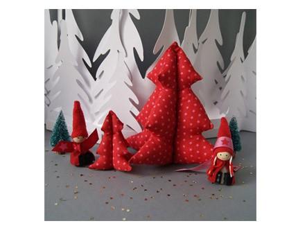 Decorativos Árboles de Navidad rubí brillantes