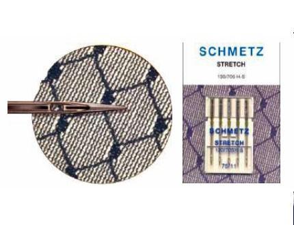 Agujas Schmezt para Elástico Normales y Gemelas 130/75 H-S