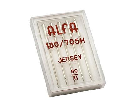 Estuche de 5 Agujas Alfa Jersey Número 80