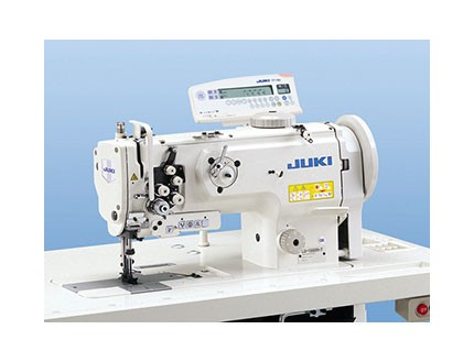 Máquina industrial triple arrastre de dos agujas con cortahilos. Juki LU 1561-N