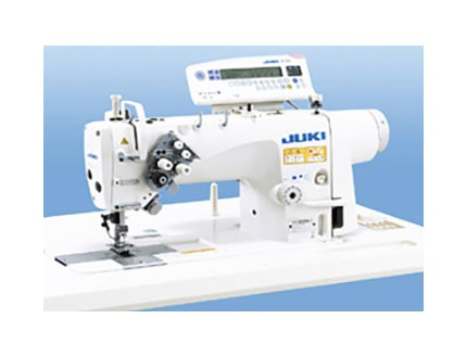 Máquina de coser industrial de dos agujas fijas.  Juki LH-3528ASF-7WB