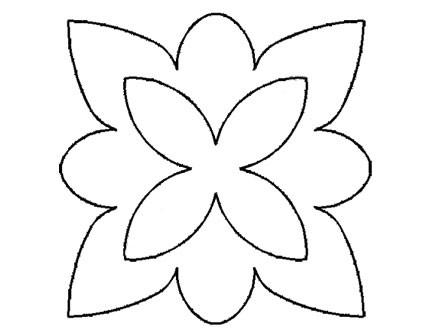Plantillas Acetato Flor Puntas Rectas y Redondas