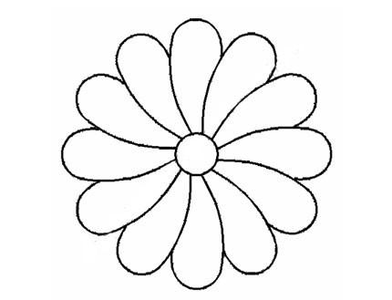 Plantilla Acetato Flor Puntas Redondas
