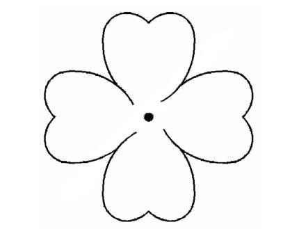 Plantilla Acetato Flor Trébol