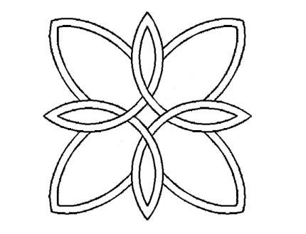 Plantilla Celtic Doble Flor