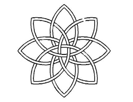 Plantilla Celtic Doble Flor Ocho Puntas