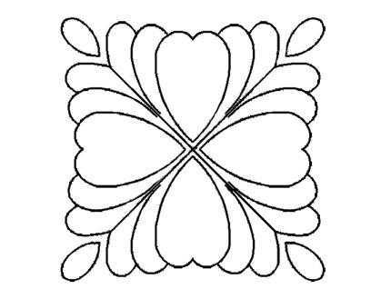 Plantilla Flor de Plumas