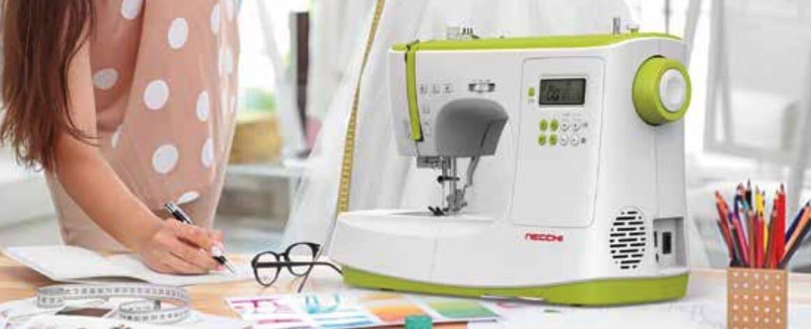 cómo enhebrar una máquina de coser Necchi